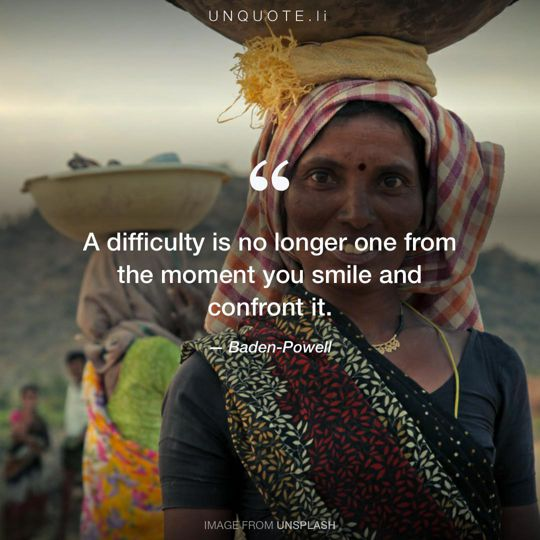 Image from Unsplash remixed with quote from Baden-Powell.