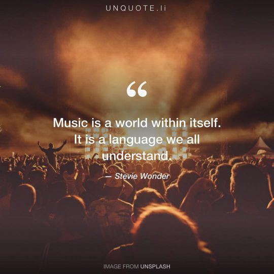 Image from Unsplash remixed with quote from Stevie Wonder.