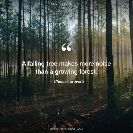Image from Unsplash remixed with Chinese proverb.