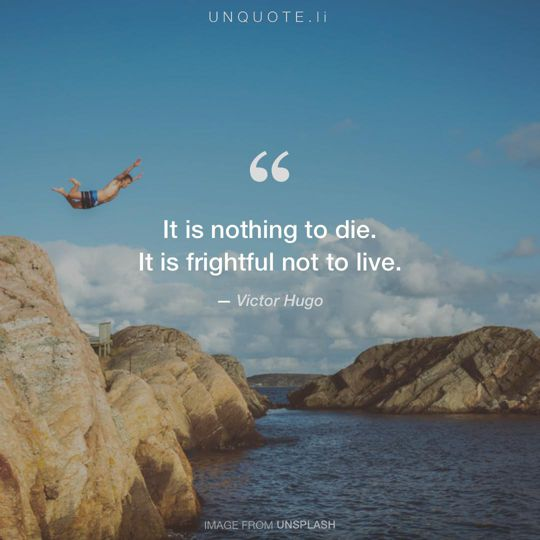 Image from Unsplash remixed with quote from Victor Hugo.