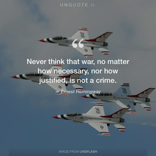 Image from Unsplash remixed with quote from Ernest Hemingway.