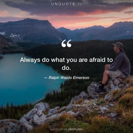 Image from Unsplash remixed with quote from Ralph Waldo Emerson.