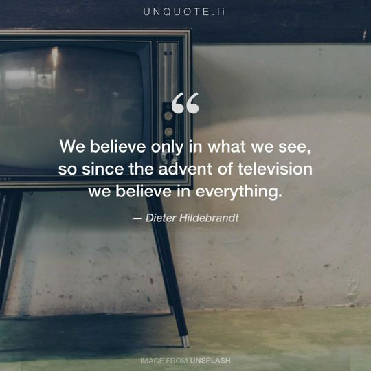 Image from Unsplash remixed with quote from Dieter Hildebrandt.