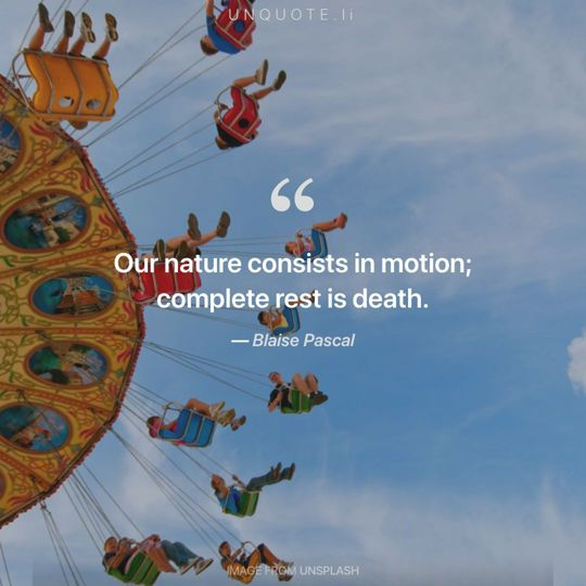 Image from Unsplash remixed with quote from Blaise Pascal.