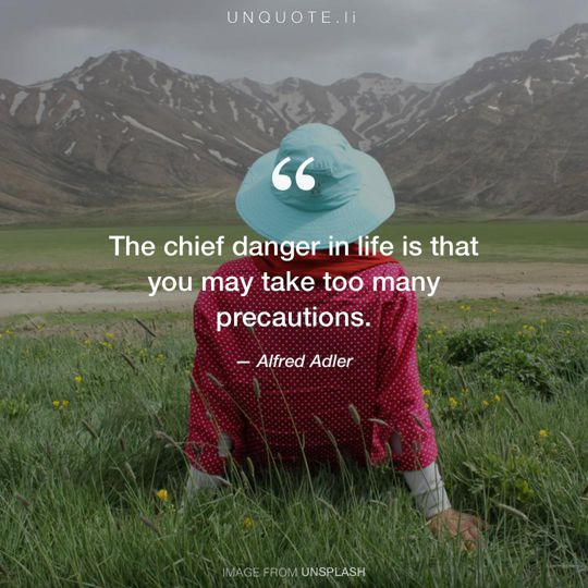 Image from Unsplash remixed with quote from Alfred Adler.