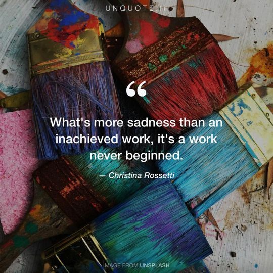 Image from Unsplash remixed with quote from Christina Rossetti.