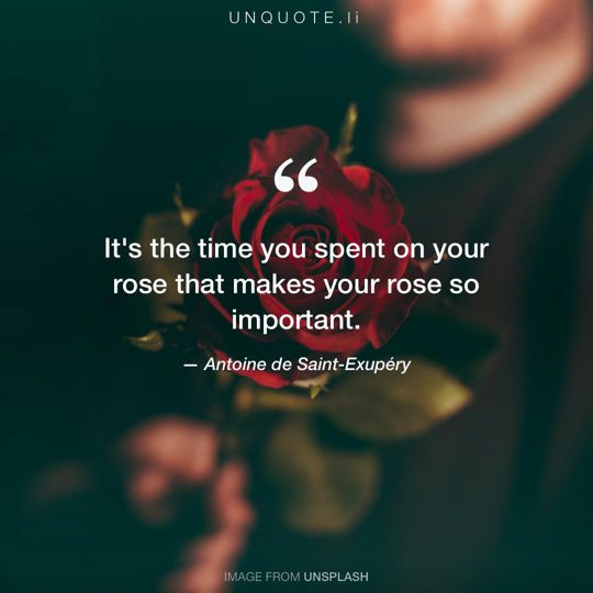 Image from Unsplash remixed with quote from Antoine de Saint-Exupéry.