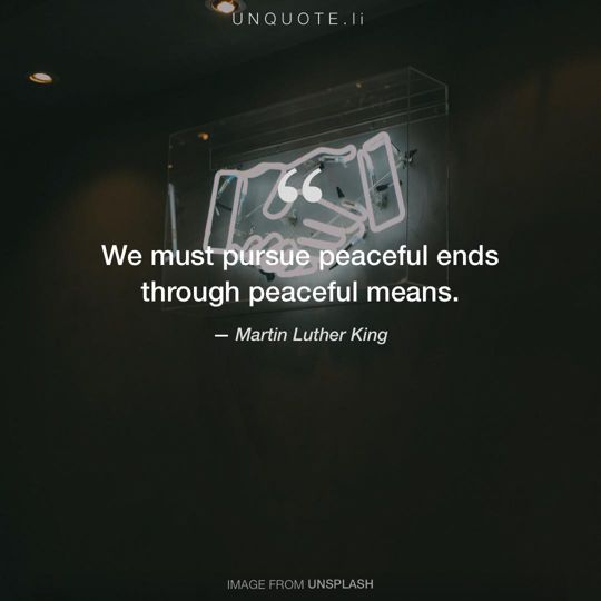 Image from Unsplash remixed with quote from Martin Luther King.