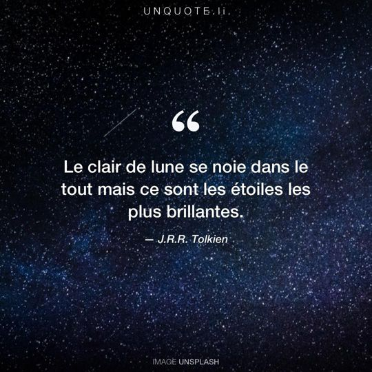 Image d'Unsplash remixée avec citation de J.R.R. Tolkien.