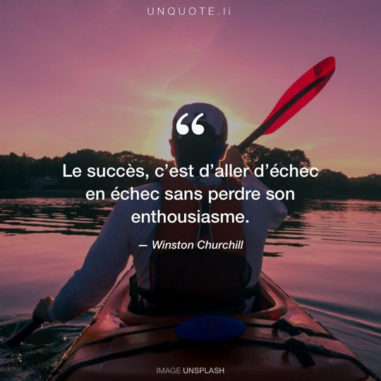 Image d'Unsplash remixée avec citation de Winston Churchill.