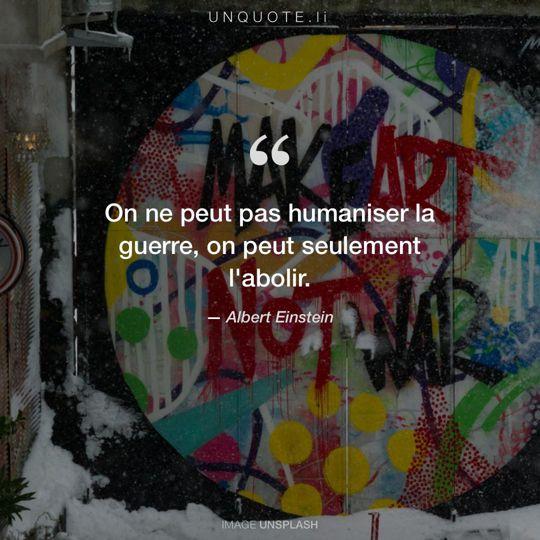 Image d'Unsplash remixée avec citation de Albert Einstein.
