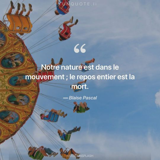 Image d'Unsplash remixée avec citation de Blaise Pascal.