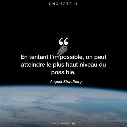 Image d'Unsplash remixée avec citation de August Strindberg.