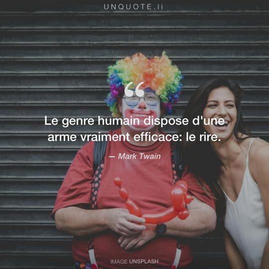 Image d'Unsplash remixée avec citation de Mark Twain.