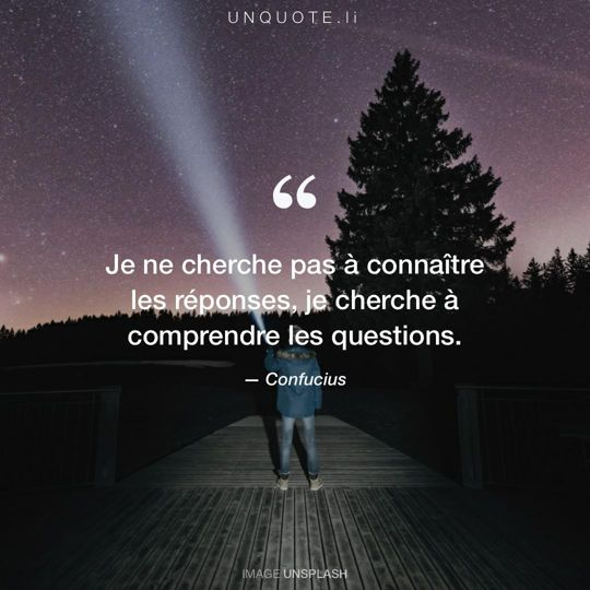 Image d'Unsplash remixée avec citation de Confucius.
