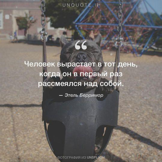 Фотографии от Unsplash цитата: Этель Берримор.