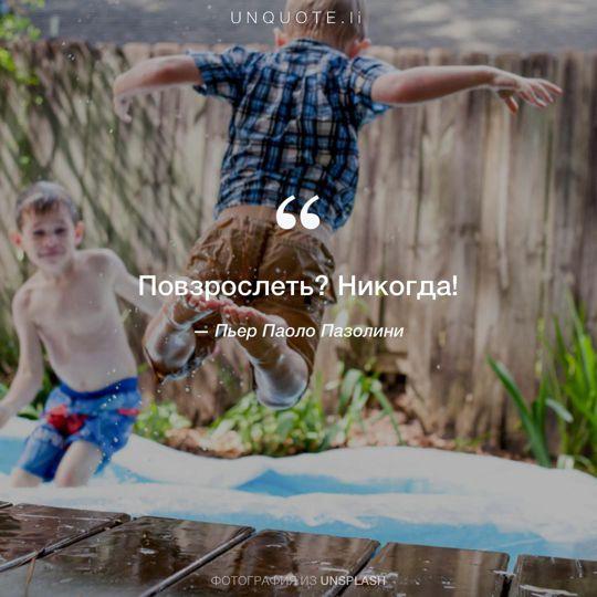 Фотографии от Unsplash цитата: Пьер Паоло Пазолини.